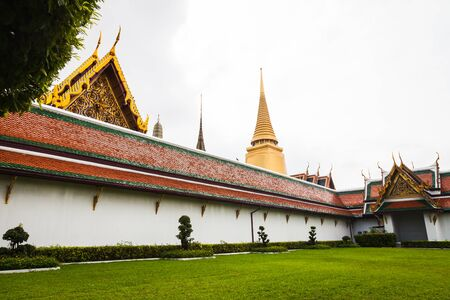 Royal grand palace at Wat Phra Kaew temple, Thailand on  28 October 2016 Editorial