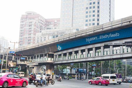 BANGKOK, THAILAND, February 27, 2018 Traffic in Sukhumvit road