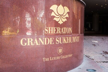 Sheraton Grand Sukhumvit hotel logo on Bangkok 25 February 2018