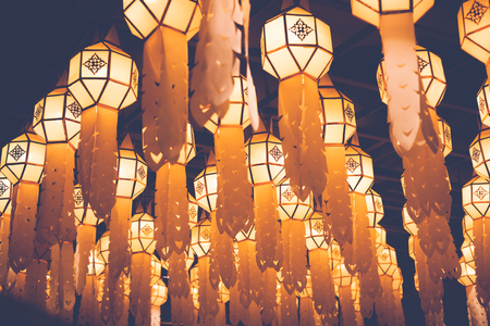 Thai Lanna chandelier in Chiang Mai Thailand on 3 December 2017