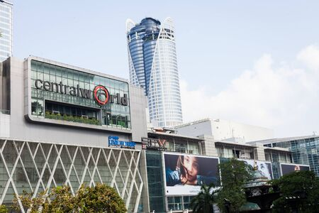 BANGKOK THAILAND - March 15 2018: Front of Central World. CentralWorld is a shopping plaza and complex in Bangkok Thailand.