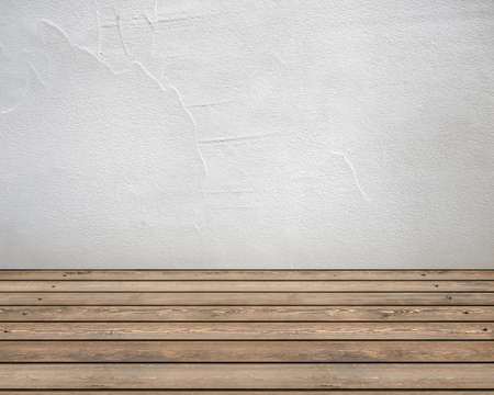 wooden floors: Empty white room with white walls and wooden floors