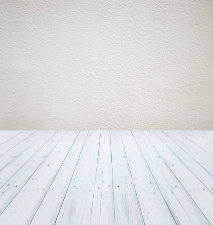 wooden floors: Empty white room with white walls and light wooden floors
