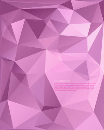 Modern Design. Abstract background from triangles to polygons