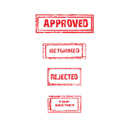 returned: Top secret, approved, returned rejected stamp collection