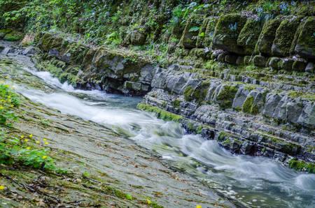 Photos of waterfalls in Sochi Park