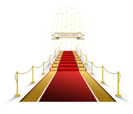 Red carpet for awards and ceremonies Illustration