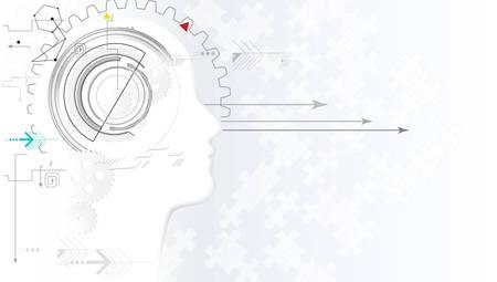 Artificial intelligence. Technology web background. Virtual concept 版權商用圖片
