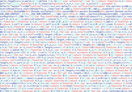 Software, web developer programming code, java script abstract computer script. Random parts of program code. vector illustration.