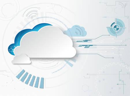 Hitech business background. Web-based cloud technologies