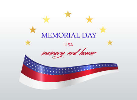 Festive background Memorial day. Ready design for postcard, poster, advertisement, banner