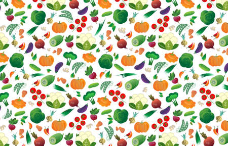 Background of different vegetables