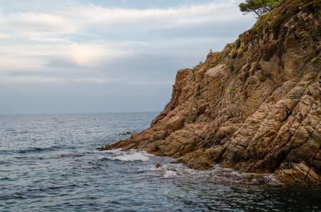 Photos of Cliffs of Cala de Sant Francesc, the coastline of the Bay of Blanes, Costa Brava, Spain, Catalonia
