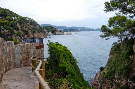 Cala de Sant Francesc, beach resort in the Bay near Blanes, Costa Brava, Spain