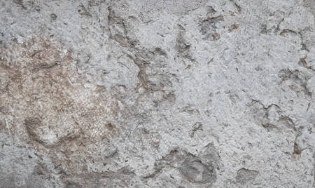 Texture of marble is gray-beige with a large pattern-cracks, spots, damaged Imagens
