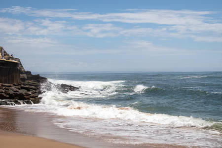 Parede, Portugal. Photo of the Atlantic ocean