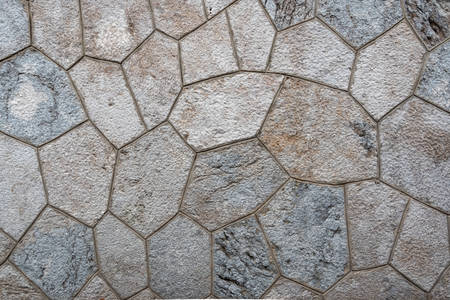 Stone pattern, mosaic, natural coating finishing with concrete seams