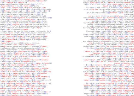Web Developer Programming Code. Software. Javascript Abstract Computer Script - Random Parts of Program Code. Vector Illustration.