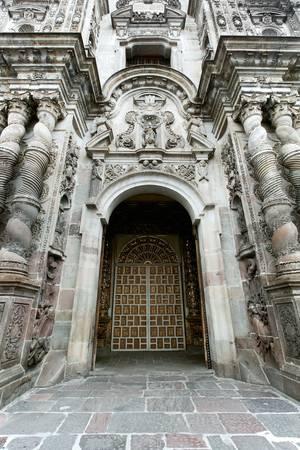 Gothic architecture in Quito , Ecuador. Remains of spanish ocupation,