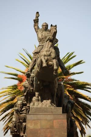 quito: Statue of Simon Bolivar in Quito, Ecuador. Complete name Sim�n Jos� Antonio de la Sant�sima Trinidad Bol�var y Palacios Stock Photo