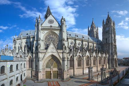 quito: The Basilica of the National is a Roman Catholic church located in the historic center of Quito, Ecuador.