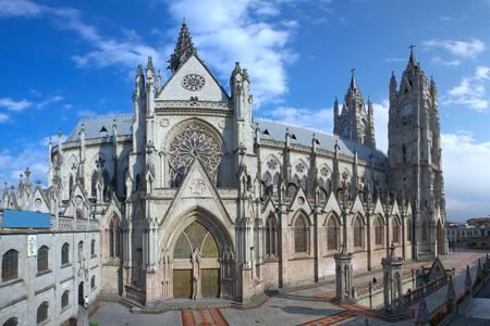 ecuador: The Basilica of the National is a Roman Catholic church located in the historic center of Quito, Ecuador.