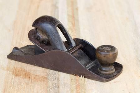 planer: small hand planer on balsa board