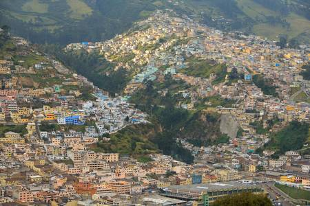 Modest neighbourhood in the east side of Quito, capital of Ecuador. Stock Photo - 9112376