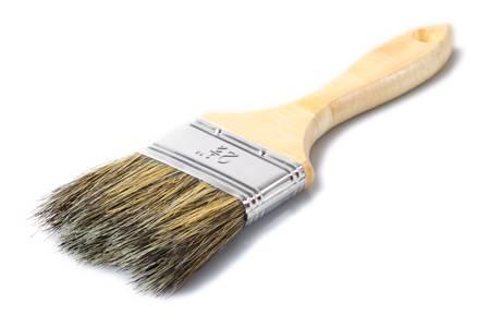 medium size: medium size wooden brush isolated on white background, studio shot