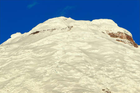 active volcano: Cotopaxi - the highest active volcano at 5.897 m. Ecuador