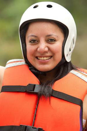 Adult woman wearing typical water sport outfit Stock Photo - 13138863