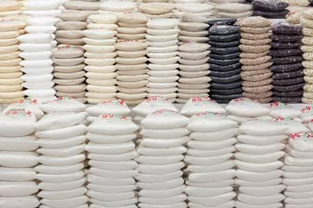 panela: Banos de Agua Santa, Ecuador - December 21, 2011 :Piles of processed sugar on the sore shelf on December 21, 2011 Banos de Agua Santa ,Ecuador Editorial