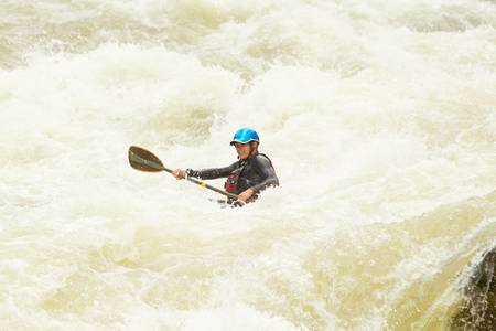 kayaker: an active kayaker on the rough water