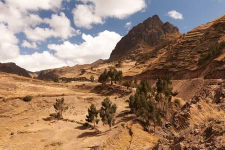 ancient pass: typical Andean landscape in Ecuadorian cordillera, horizontal