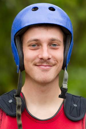 adult man wearing typical water sport outfit