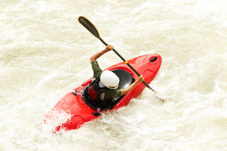 buoyancy: an active kayaker on the rough water
