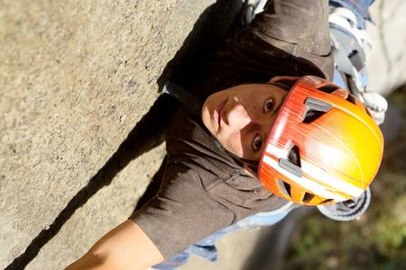 Rock climber closeup, shoot from above Stock Photo - 16984725