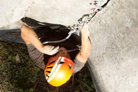 rock climber closeup, shoot from above Stock Photo - 16984724