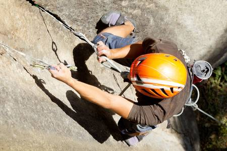 rock climber closeup, shoot from above Stock Photo - 16984729