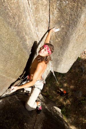 rock climber closeup, shoot from above Stock Photo - 16984728