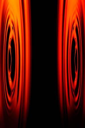 contaminacion acustica: Tiro abstracto de las membranas altavoces est�reo colocado cara a cara Foto de archivo
