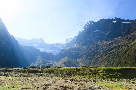 sunrise over el altar volcano in sangay national park, ecuador. view from west to east.