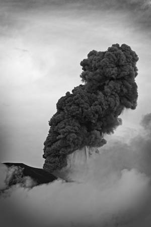tungurahua: powerful explosion of tungurahua volcano on 5th of may 2013, ecuador , south america