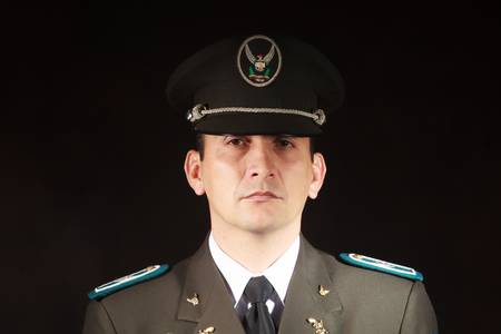 corporal: ecuadorian police official dressed up in formal uniform
