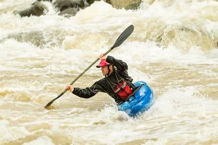 amerique du sud: Le rafting en kayak, en �quateur, en Am�rique du Sud