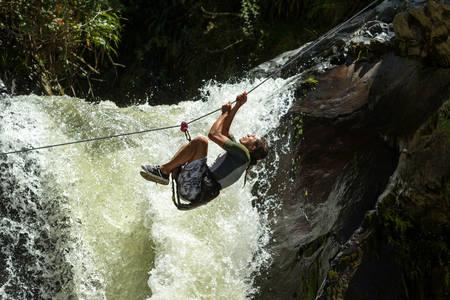limits: waterfall zipline crossing