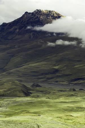 stock vista: sincholagua volcano, ecuadorian andes. Stock Photo