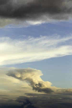 powerful explosion of tungurahua volcano on 1st of february 2014, ecuador , south america photo
