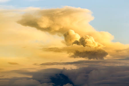 volcanic eruption , long distance view photo