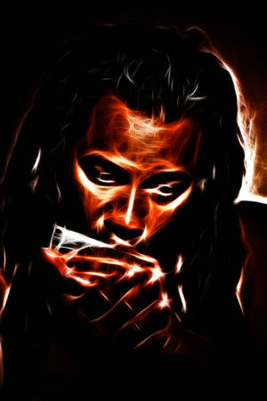 harmonica: rastafarian man playing mouth harmonica